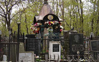 Могила матроны московской на даниловском
