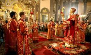 Вечернее богослужение в православной церкви