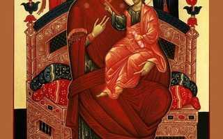 Молитва Всецарице перед иконой Богородицы