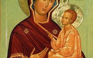 Тихвинская икона божией матери молитва