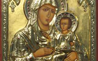 Виды икон божьей матери
