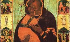 Тропарь владимирской иконе божией матери