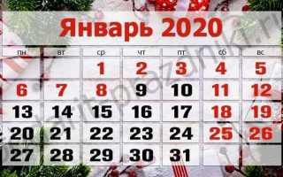 Какие православные праздники в январе 2020 года