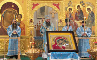 Воскресная служба в православной церкви