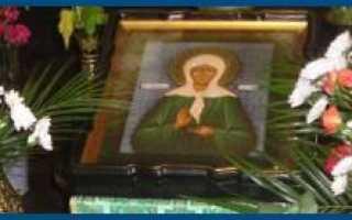 Молитва святой Матроне о сохранении и благополучии в семье
