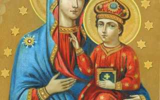 Изображение божьей матери