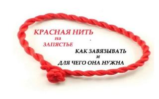 Молитва на красную нить на запястье