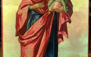 Старинная икона божьей матери